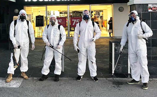 Especialistas en desinfección COVID-19