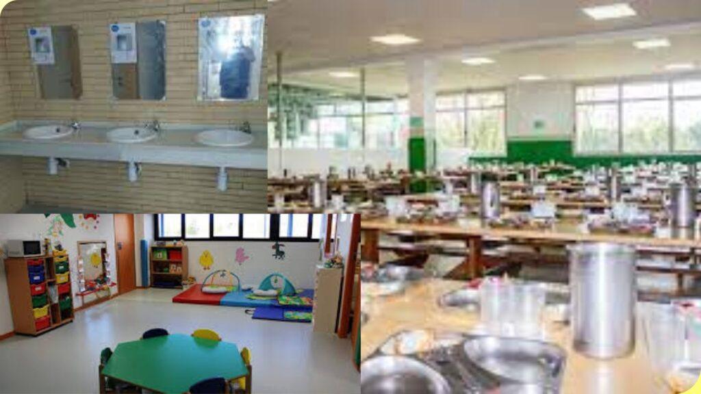 Limpieza de lavabos, comedor y parvulario de los centros educativos.